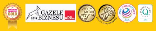 Nagrody i wyróżnienia  otrzymane przez firmę REN BUT, sklep internetowy e-kobi.pl