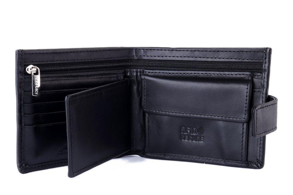 PERFEKT PLUS SK/1 A RFID SECURE czarny, portfel męski, sklep internetowy e-kobi.pl