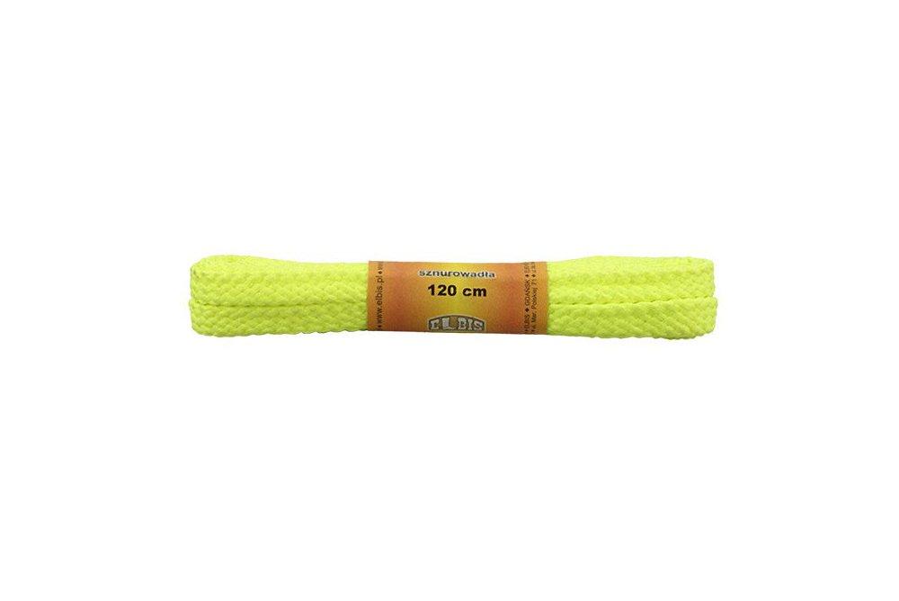 ELBIS Sznurowadła 120 cm 120/03 żółty, sznurowadła do butów poliestrowe, płaskie, sklep internetowy e-kobi.pl