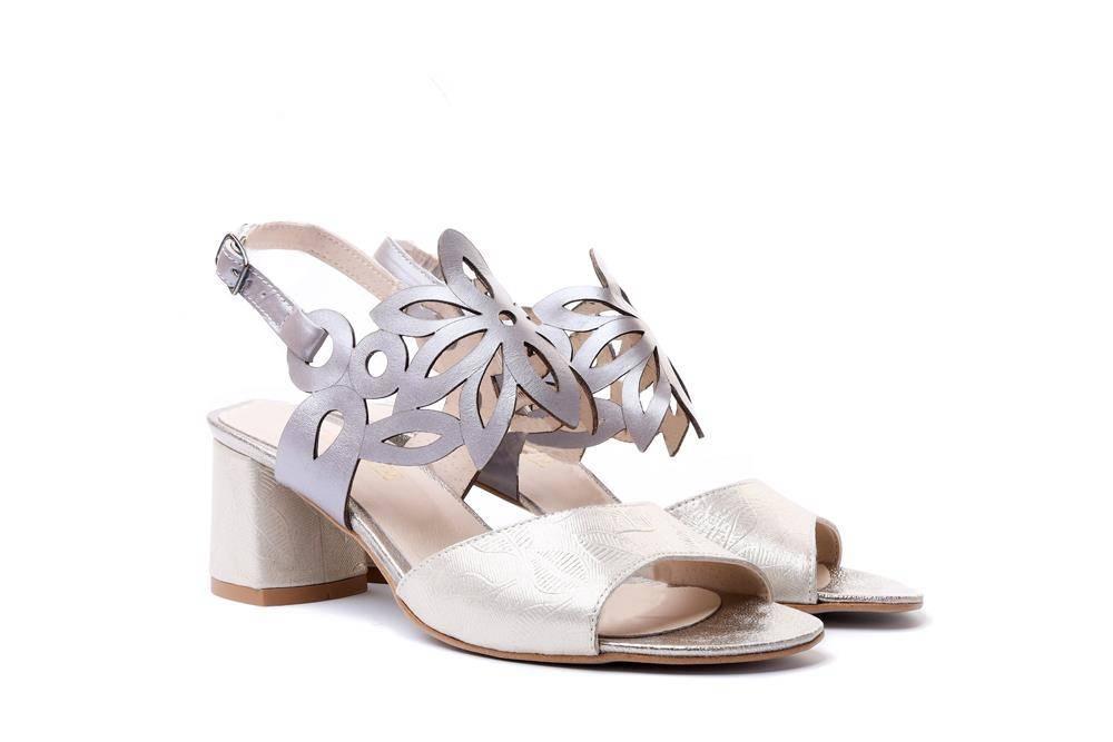 LAMELIA 44C2556 B zlot jod+cap, sandały damskie, sklep internetowy e-kobi.pl