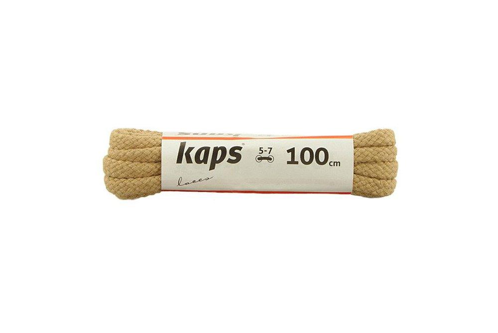 KAPS sznurowadła 100 cm 09_100_200_0010 beżowy, sznurowadła bawełniane, okrągłe, sklep internetowy e-kobi.pl