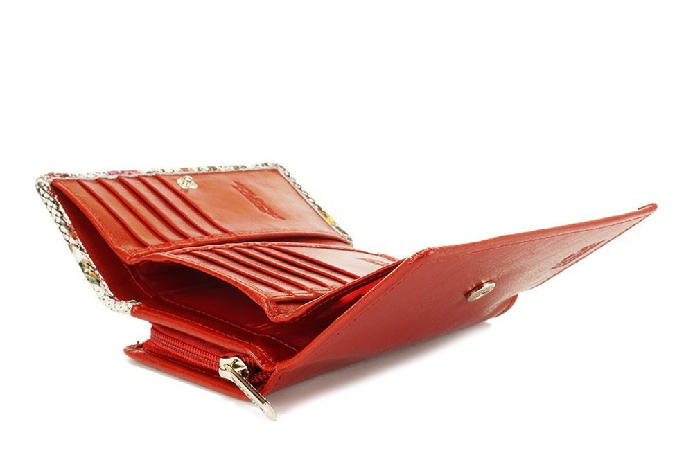PERFEKT PLUS P/45 II zatrzask/zamek RFID SECURE czerwony, portfel damski, sklep internetowy e-kobi.pl