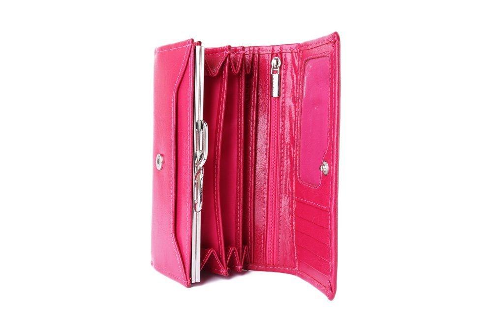 PERFEKT PLUS P/35 A zatrzask różowy RFID SECURE, portfel damski, sklep internetowy e-kobi.pl