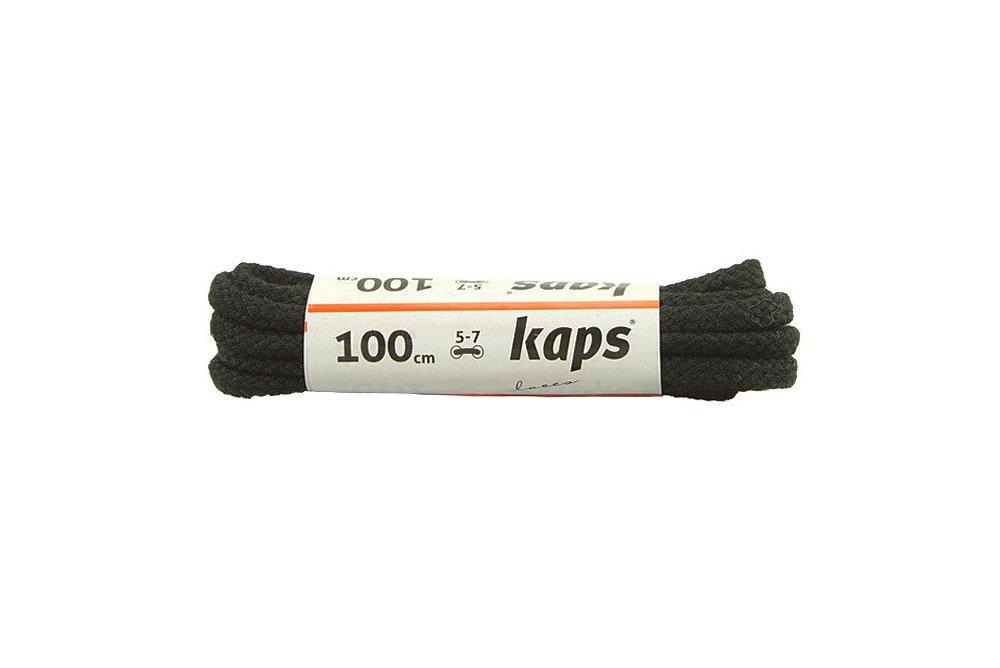 KAPS sznurowadła 100 cm 09_100_200_0091 czarny, sznurowadła bawełniane, okrągłe, sklep internetowy e-kobi.pl