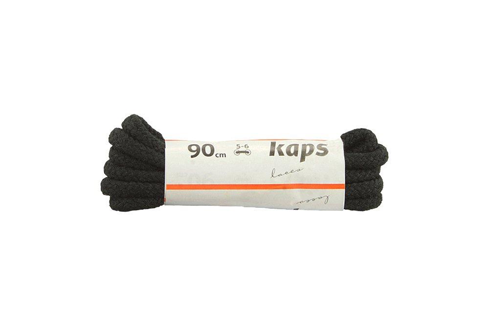 KAPS sznurowadła 90 cm 09_090_300_0091 czarny, sznurowadła bawełniane, okrągłe, grube, sklep internetowy e-kobi.pl