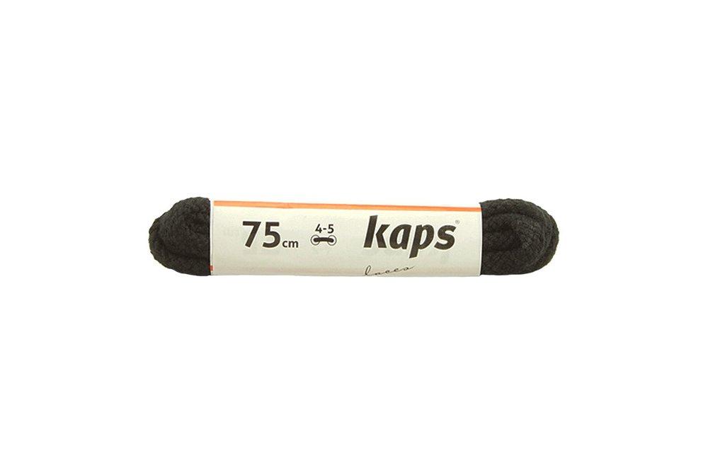 KAPS sznurowadła 75 cm 09_075_200_091 czarny, sznurowadła bawełniane, okrągłe, sklep internetowy e-kobi.pl