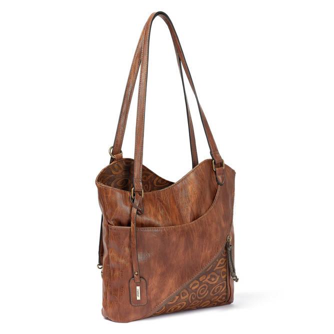 RIEKER H1025-22 brown, torebka, plecak damski, sklep internetowy e-kobi.pl