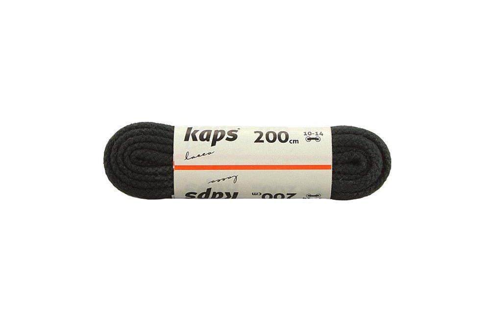 KAPS sznurowadła 200 cm 09_200_200_091 czarny, sznurowadła bawełniane, okrągłe, sklep internetowy e-kobi.pl
