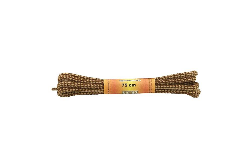 ELBIS Sznurowadła 75 cm 075/03 brązowo-beżowy, sznurowadła do butów okrągłe, bawełniene, sklep internetowy e-kobi.pl