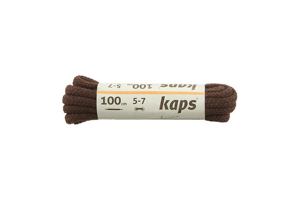 KAPS sznurowadła 100 cm 09_100_300_0079 ciemny brązowy, sznurowadła bawełniane, okrągłe, grube, sklep internetowy e-kobi.pl