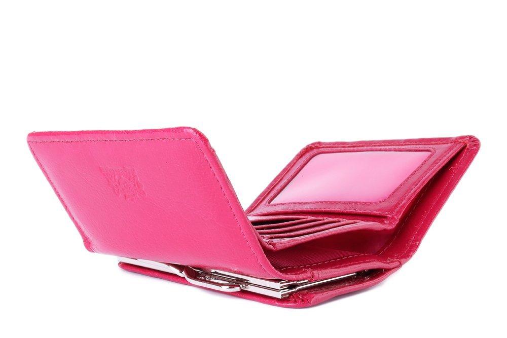 PERFEKT PLUS 11/1 A różowy RFID SECURE zatrzask/bigiel, portfel damski, sklep internetowy e-kobi.pl