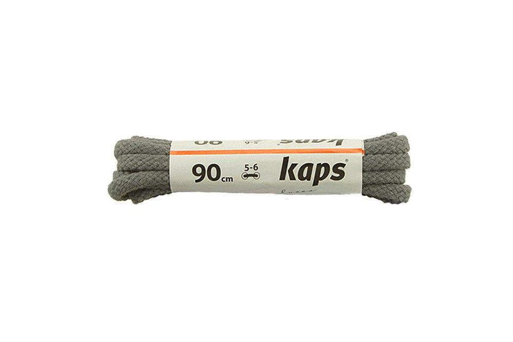 KAPS sznurowadła 90 cm 09_090_200_0084 ciemny popiel, sznurowadła bawełniane, okrągłe, sklep internetowy e-kobi.pl