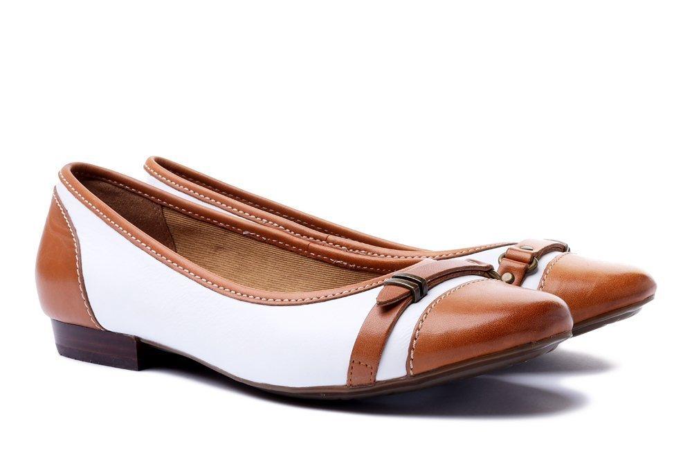 CLARKS HENDERSON BIRD 261080474 white leather, baleriny, czółenka damskie ,sklep internetowy e-kobi.pl