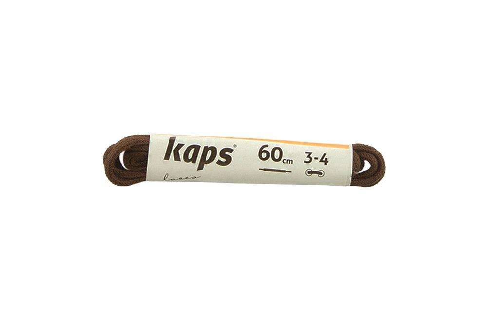KAPS sznurowadła 60 cm 09_060_100_0079 ciemny brąz, sznurowadła bawełniane, okrągłe, cienkie, sklep internetowy e-kobi.pl
