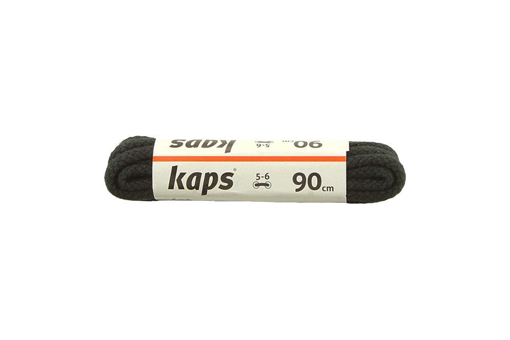 KAPS sznurowadła 90 cm 09_090_200_0091 czarny, sznurowadła bawełniane, okrągłe, sklep internetowy e-kobi.pl
