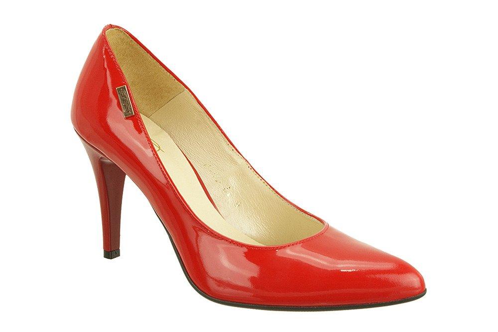 EMBIS 1406 czerwony lakier, czółenka damskie na szpilce, sklep internetowy e-kobi.pl