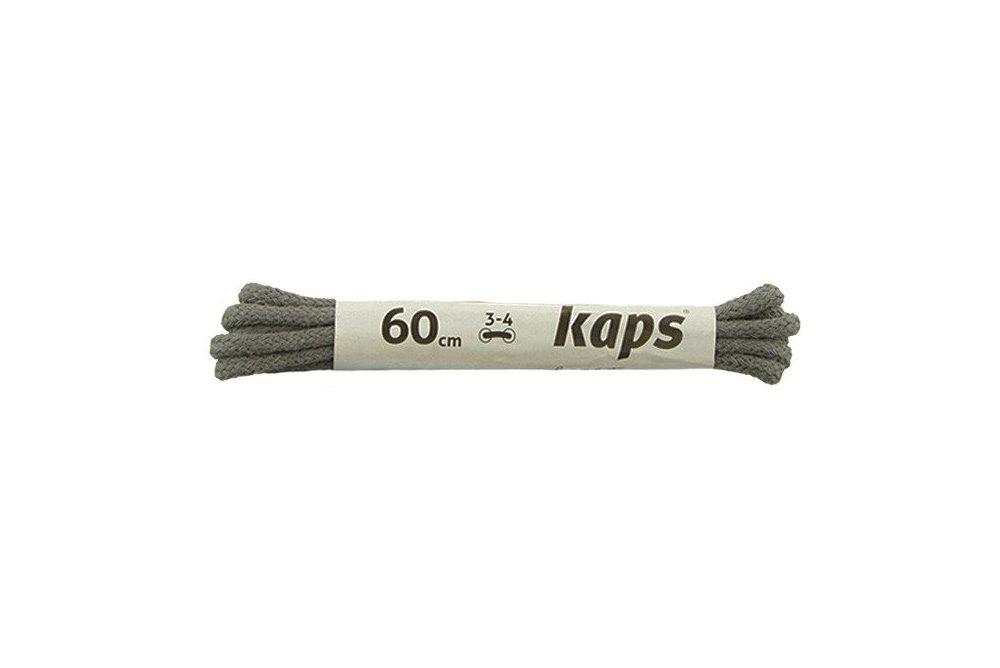 KAPS sznurowadła 60 cm 09_060_100_0084 ciemny popiel, sznurowadła bawełniane, okrągłe, cienkie, sklep internetowy e-kobi.pl
