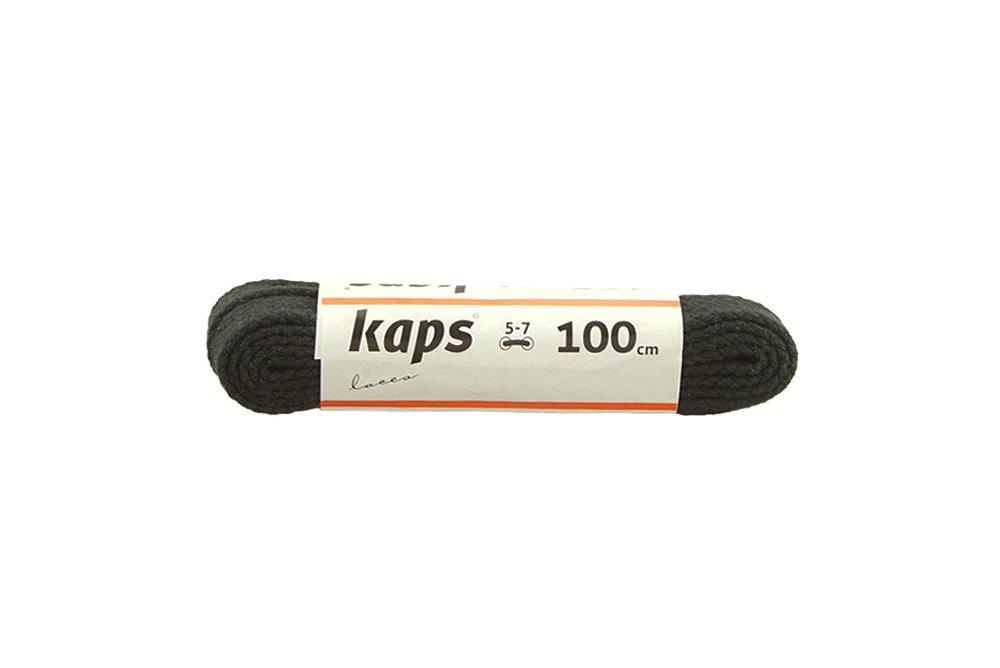 KAPS sznurowadła 100 cm 09_100_400_091 czarny, sznurowadła bawełniane, płaskie, sklep internetowy e-kobi.pl