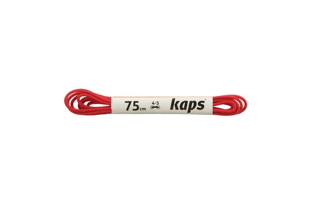 KAPS sznurowadła 75 cm 09_075_500_0031 czerwony, sznurowadła bawełniane, woskowane, okrągłe, cienkie, sklep internetowy e-kobi.pl