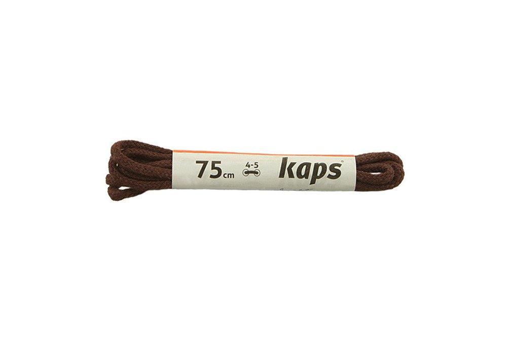 KAPS sznurowadła 75 cm 09_075_100_0079 ciemny brąz, sznurowadła bawełniane, okrągłe, cienkie, sklep internetowy e-kobi.pl