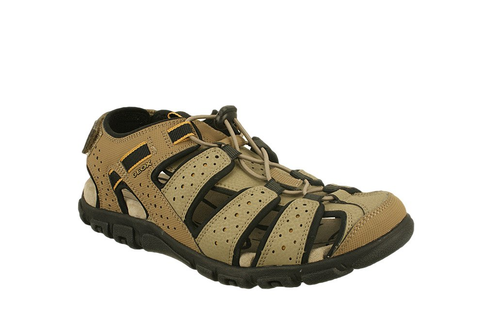 GEOX U6224B S.STRADA C5004 piasek, sandały męskie, sklep internetowy e-kobi.pl