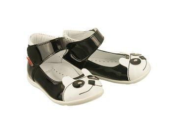 764f882a ZARRO 84/03 czarno-biały, balerinki trzewiki dziecięce, rozmiary 19-24