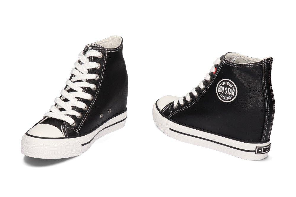 BIG STAR EE274615 czarny, trampki, sneakersy damskie
