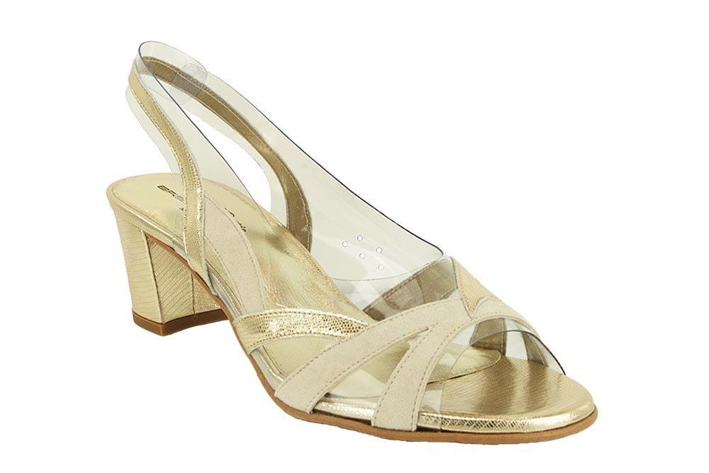 BRENDA ZARO T2111A złoty, sandały damskie
