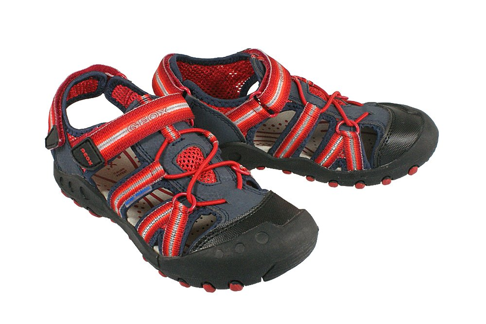 d6d8adf2 GEOX J42E1C SAND.KYLE C morski/czerwony, sandałki dziecięce ...