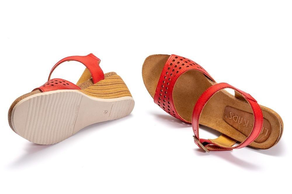4fc8cc05ce6c7 ... LAN-KARS H69-64 czerwony, sandały damskie Kliknij, aby powiększyć ...