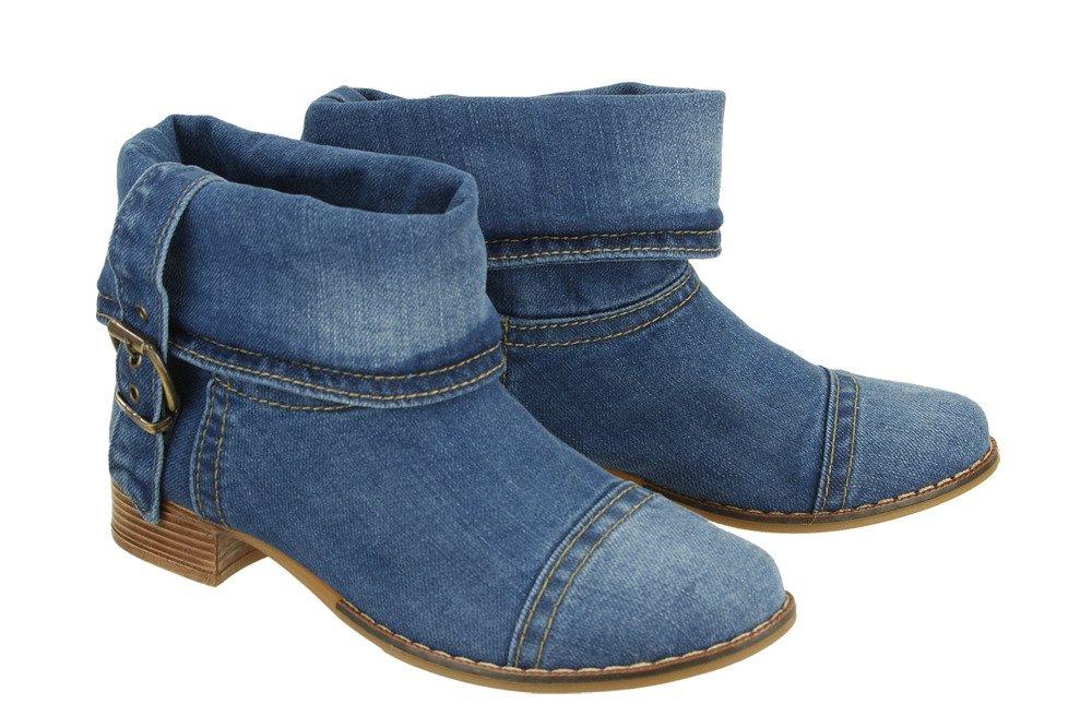 7b9eee6843c06 LANQIER 40C201 jeans, botki damskie   Sklep e-kobi.pl