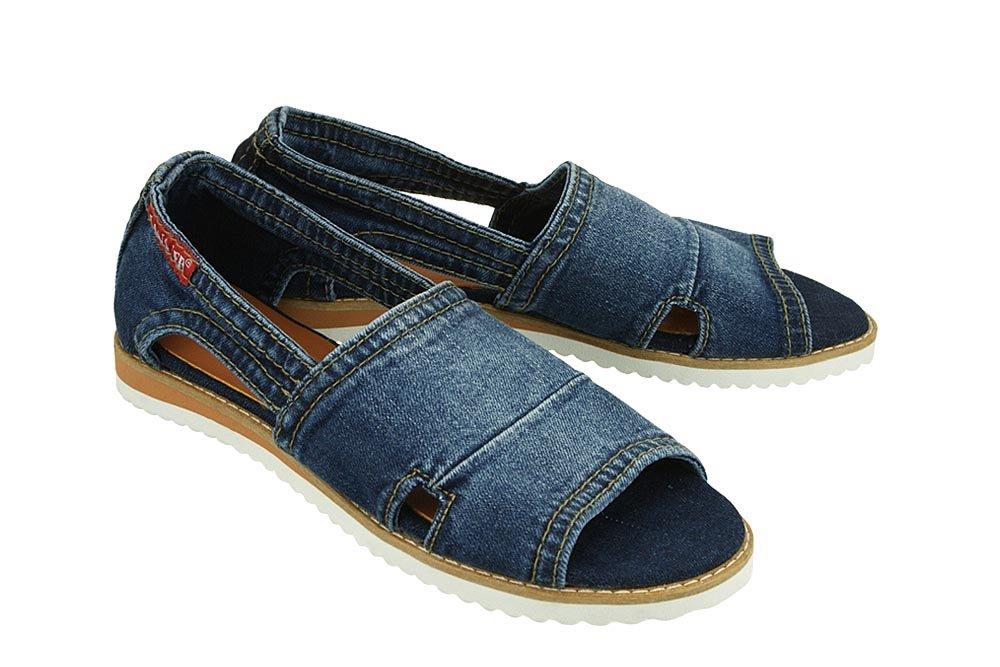 ed990db9f251a LANQIER 40C290 jeans, sandały damskie Kliknij, aby powiększyć ...