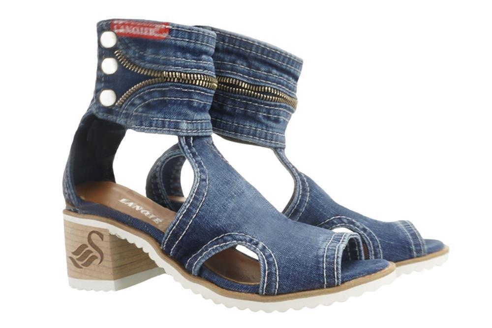 1633347127e03 LANQIER 44C0125 jeans, sandały damskie Kliknij, aby powiększyć ...