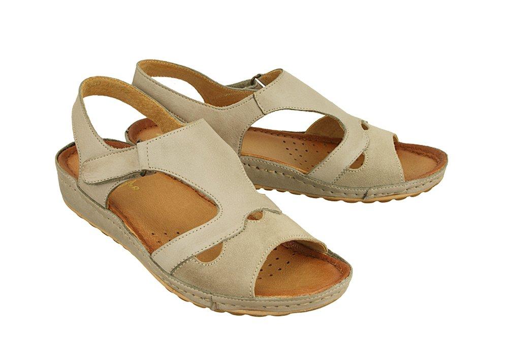 9a10c432edda5 MACIEJKA 03620-10/00-5 ciemny beżowy, sandały damskie Kliknij, aby  powiększyć ...