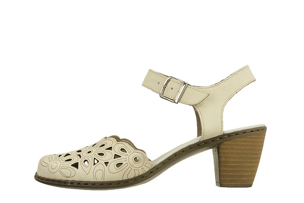 RIEKER 40975 80 weiss, sandały damskie