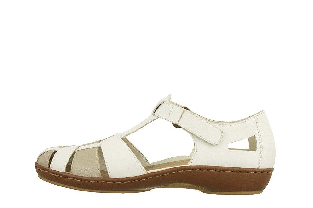 RIEKER 45869 80 white combination, sandały damskie Ceny i