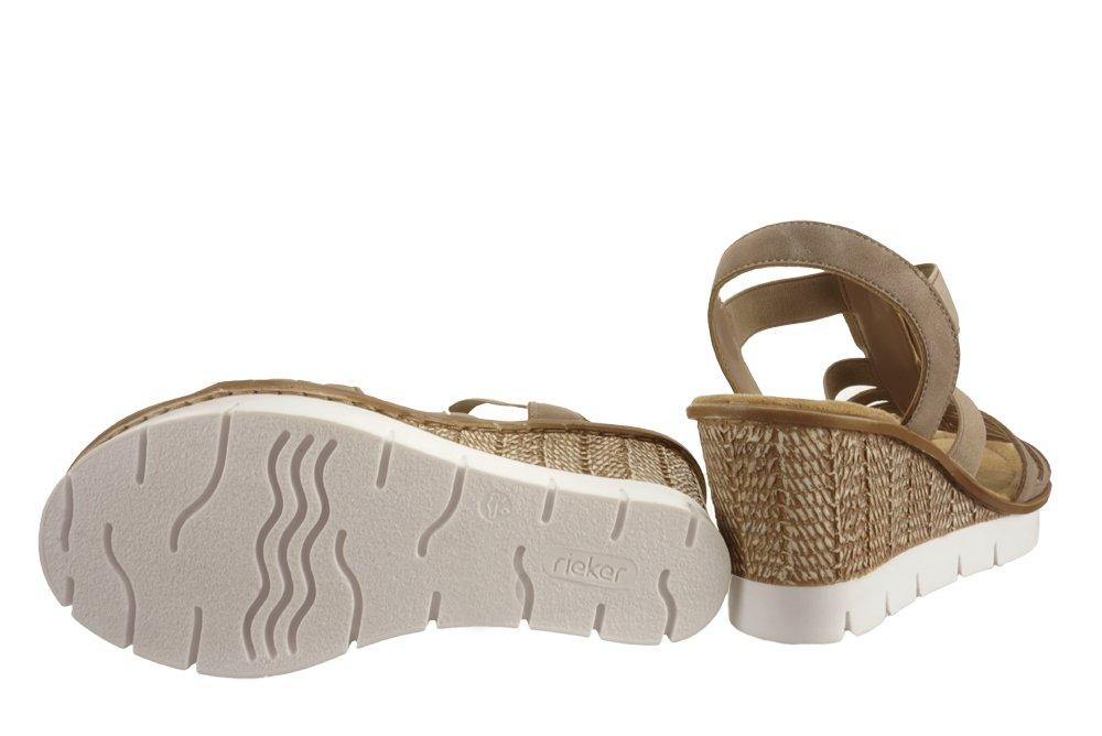 RIEKER 65596 64 beige, sandały damskie