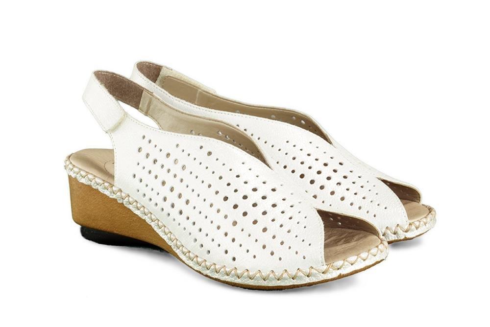 RIEKER 66196 80 weiss, sandały damskie