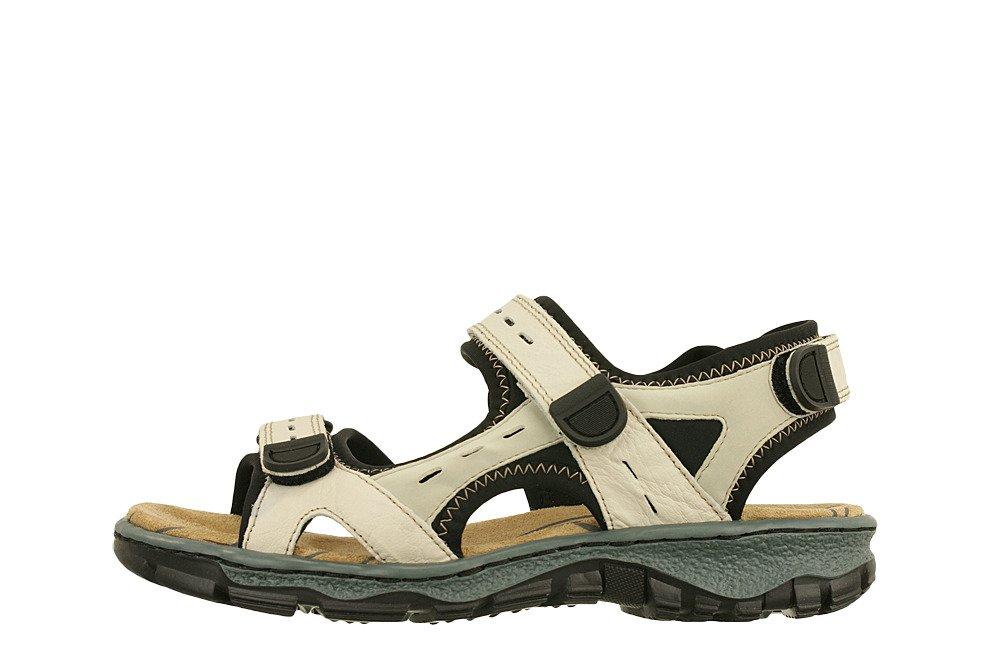 68872 60 beige combination, sandały damskie beżowy, Rieker