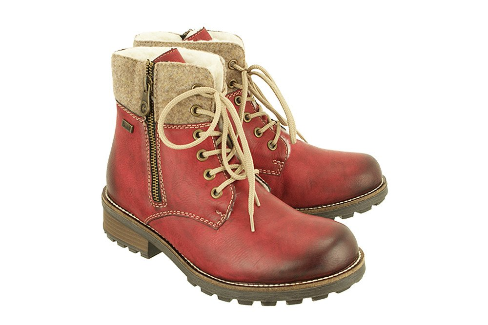 online shop new high quality new products RIEKER Z0441-35 TEX red combination, trzewiki damskie