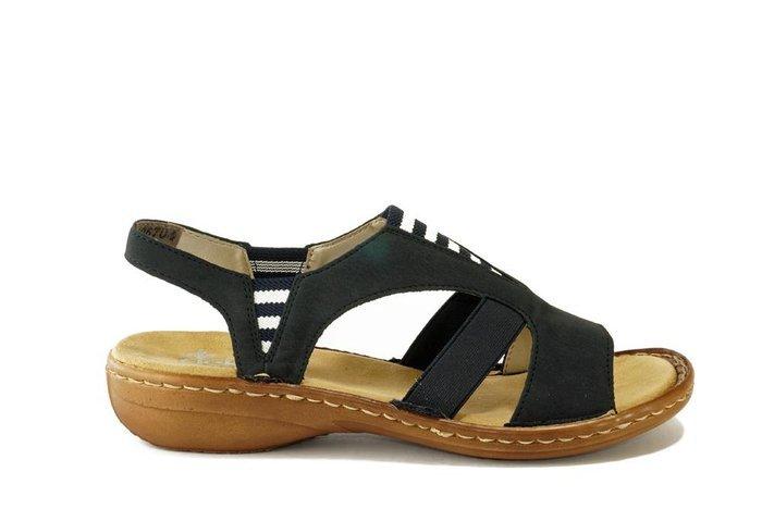 Sandały RIEKER 608Y7 14 Blau Sandały codzienne Sandały
